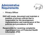 administrative requirements40