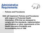 administrative requirements49