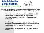 administrative simplification12