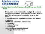 administrative simplification14