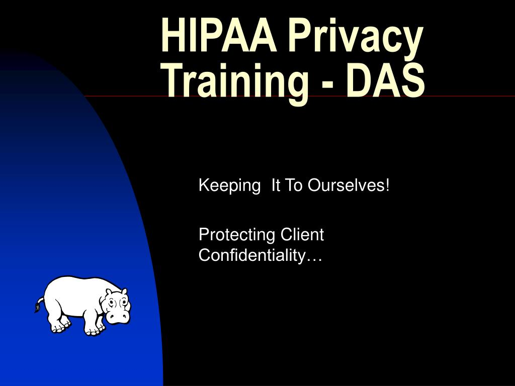 hipaa privacy training das l.