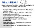 what is hipaa
