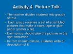 activity 4 picture talk