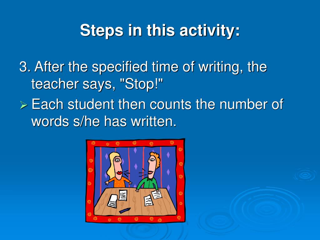 Steps in this activity: