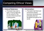 competing ethical views