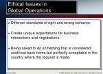 ethical issues in global operations
