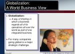 globalization a world business view