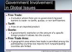 government involvement in global issues