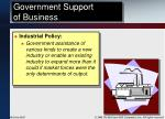 government support of business