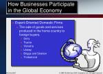 how businesses participate in the global economy15