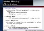 issues affecting globalization