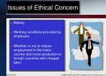 issues of ethical concern