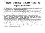 teacher training governesses and higher education