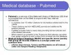 medical database pubmed