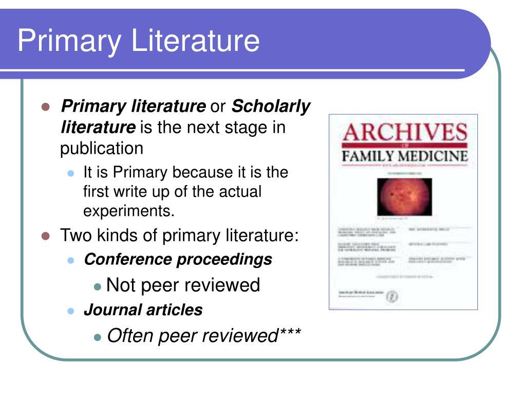 Primary Literature