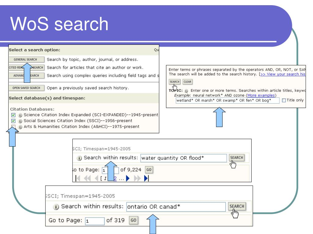 WoS search