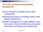 cyclon inexpensive membership management