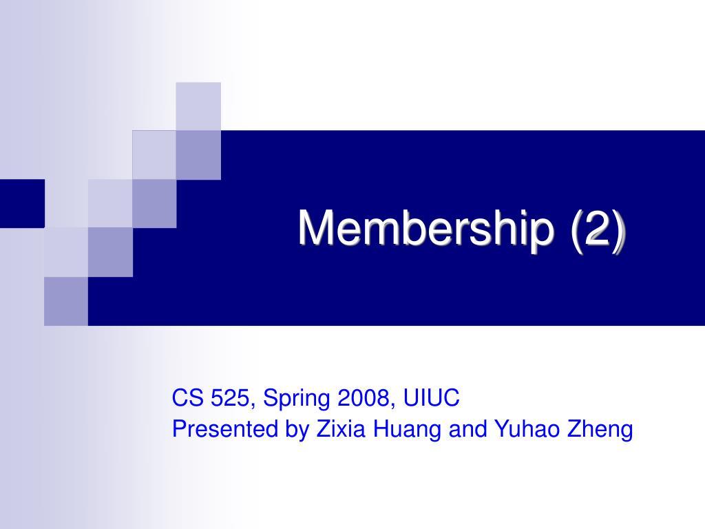 membership 2 l.