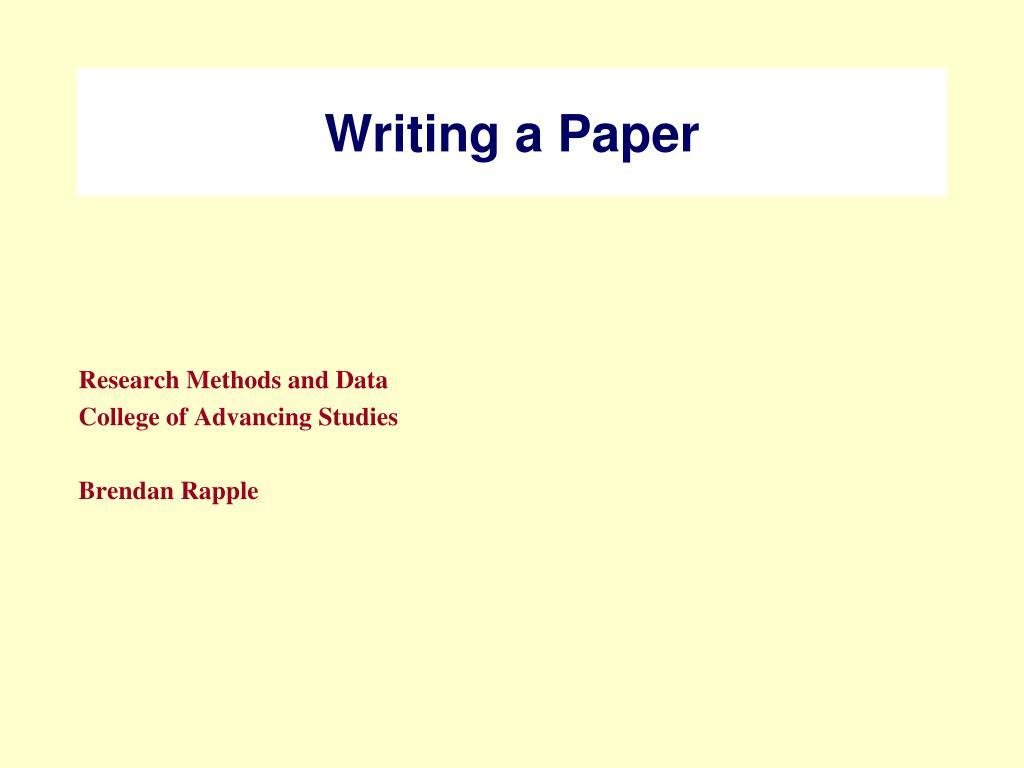 writing a paper l.