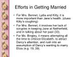 efforts in getting married