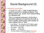 social background 5
