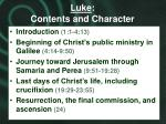 luke contents and character