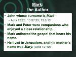 mark the author