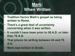 mark when written