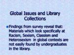 global issues and library collections