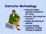 instructor methodology