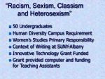 racism sexism classism and heterosexism