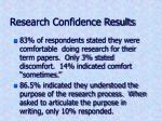research confidence results