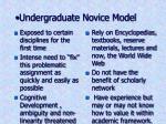 undergraduate novice model