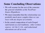 some concluding observations