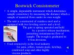 bostwick consistometer