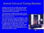 instron universal testing machine