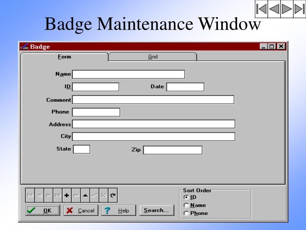 Badge Maintenance Window