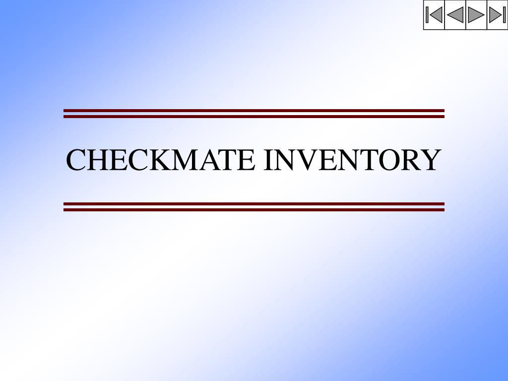 checkmate inventory l.