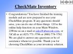 checkmate inventory140