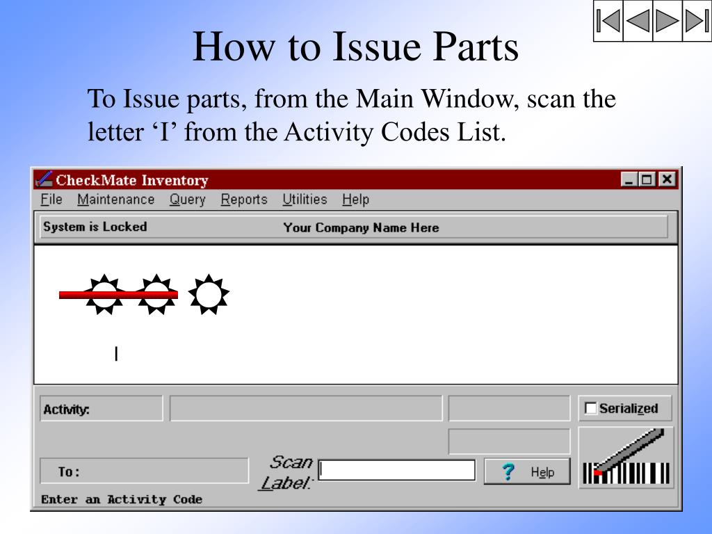 How to Issue Parts