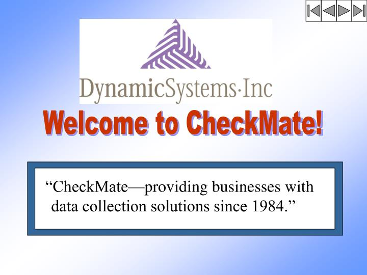 Welcome to CheckMate!
