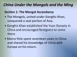 china under the mongols and the ming