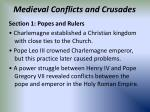 medieval conflicts and crusades