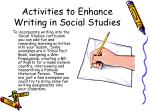 activities to enhance writing in social studies