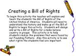 creating a bill of rights
