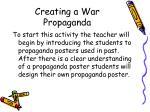 creating a war propaganda