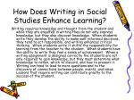 how does writing in social studies enhance learning