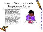 how to construct a war propaganda poster