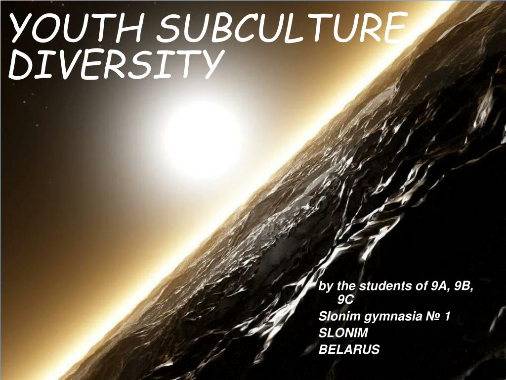 youth subculture diversity l.