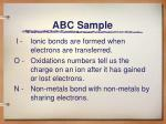 abc sample